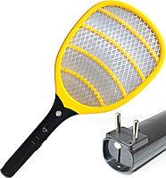 Электрическая мухобойка от сети с фонариком Yage YG D003 желтая
