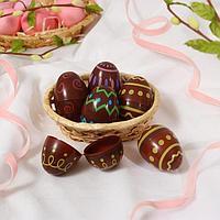 Основа для творчества «Яйцо с орнаментом», открывается, набор 6 шт., размер 1 шт: 6 × 4 см