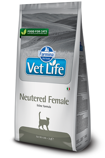 Vet Life Neutered Female, для стерилизованных кошек, уп.2 кг.