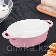 Форма для запекания Доляна «Долли», 18,5×11×4,5 см, цвет розовый