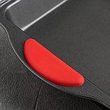 Форма для выпечки Доляна «Софт. Квадрат», 28×22×5 см, силиконовые ручки, антипригарное покрытие, фото 3