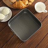 Форма для выпечки разъёмная Доляна «Элин. Квадрат», 20×6,5 см, антипригарное покрытие, фото 4