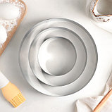 Набор форм для выпечки «Круг», 3 шт: d=10, 15, 20 см, высота 4,5 см, фото 2