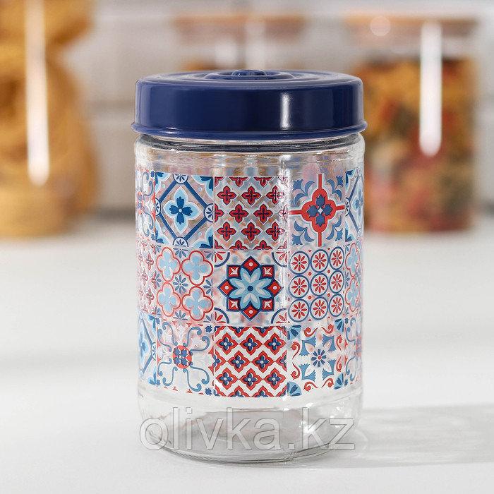 Банка для сыпучих продуктов Herevin «Мозаика», 660 мл