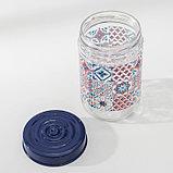 Банка для сыпучих продуктов Herevin «Мозаика», 660 мл, фото 3