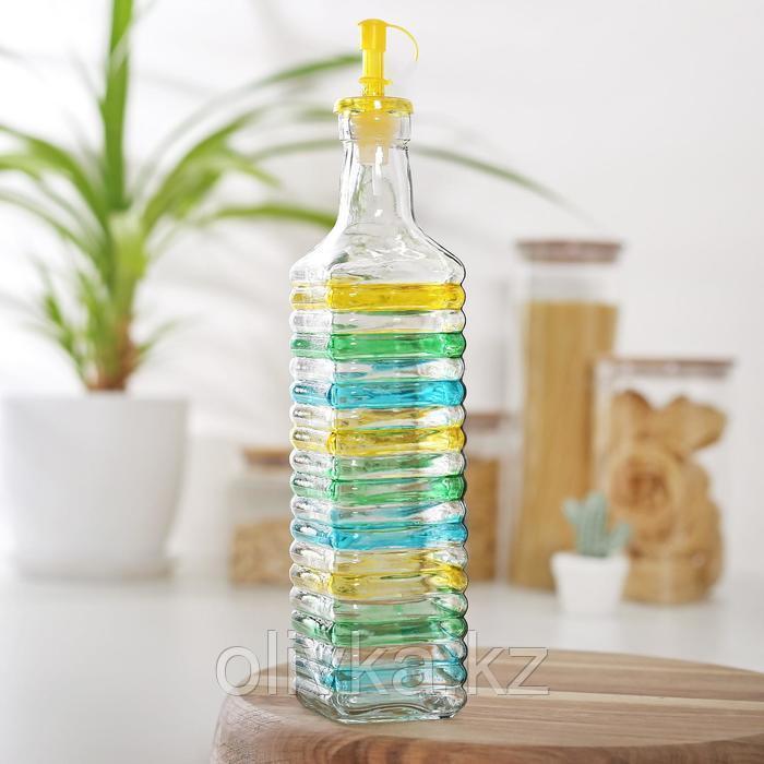 Бутыль для соусов и масла «Перелив», 600 мл, 6×6×26 см МИКС