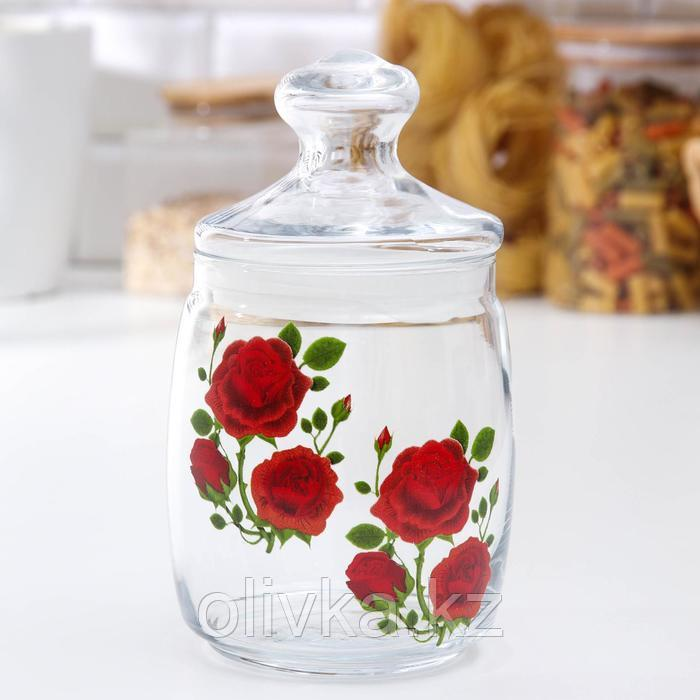 Банка для сыпучих продуктов «Cesni. Алая роза», 940 мл