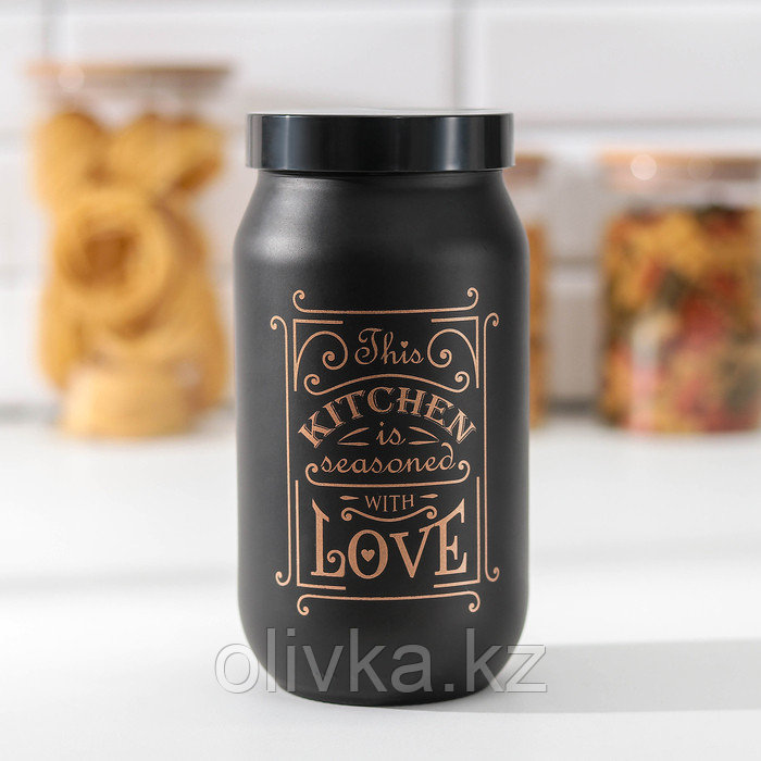Банка для сыпучих продуктов Herevin «Любовь на кухне», 1 л