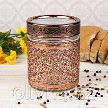 Банка для сыпучих продуктов «Царевич», 650 мл, цвет бронза