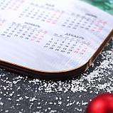 Доска разделочная с календарем «Бык скачет», фото 2