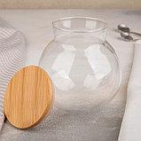 Банка для сыпучих продуктов «Эко.Бабл», 950 мл, 12,5×13,5 см, фото 2