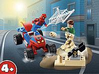 LEGO Super Heroes 76172 Бой Человека-Паука с Песочным Человеком, конструктор ЛЕГО