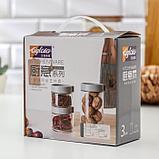Набор банок для сыпучих продуктов «Модерн», 3 шт, цвет серый, фото 4