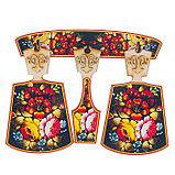 Набор досок «Хозяюшка», хохлома, сувенирный, 4 предмета, размер доски 17 х 28 см, фото 2