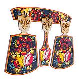 Набор досок «Хозяюшка», хохлома, сувенирный, 4 предмета, размер доски 17 х 28 см, фото 3