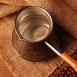 """Турка для кофе """"Монеты"""", 0,4л премиум, фото 2"""