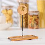 Набор для соусов и масел на деревянной подставке «Эстет», 220 мл, 2 шт, фото 5