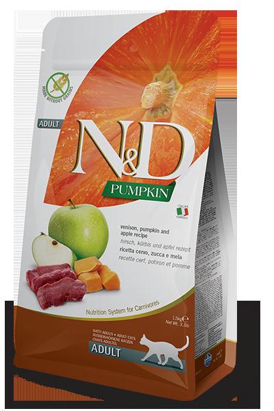 N&D оленина, тыква, яблоко, уп.5кг.