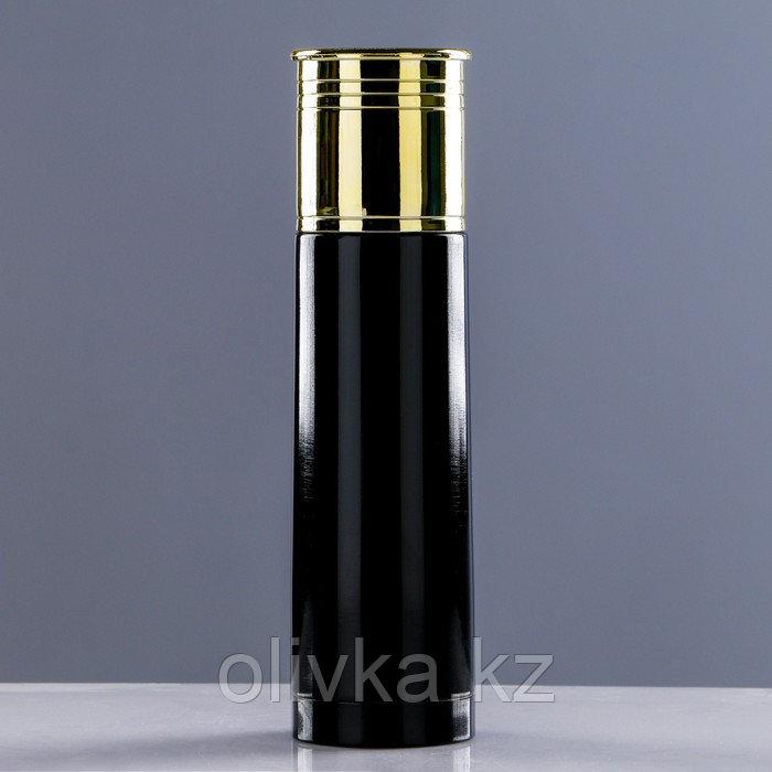 """Термос """"Патрон"""", 500 мл, сохраняет тепло 12 ч, чёрный, 7х25,5 см"""
