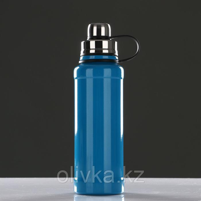 Термос с ситечком 800 мл, сохраняет тепло 8 ч, голубой 8х28 см
