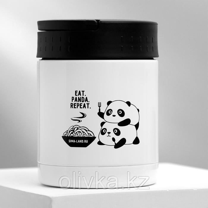 """Термос для еды """"Eat.Panda.Repeat."""", 400 мл, сохраняет тепло 12 ч"""
