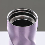 "Термокружка ""Звезда"", 500 мл, фиолетовый, 12 ч, 7.8х7.8х22, фото 4"
