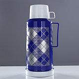 """Термос """"Клеточки"""" с 1 кружкой и 1 чашкой, 1.8 л, сохраняет тепло 10 ч, 15х33 см, микс, фото 2"""