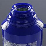 """Термос """"Клеточки"""" с 1 кружкой и 1 чашкой, 1.8 л, сохраняет тепло 10 ч, 15х33 см, микс, фото 5"""