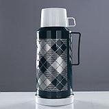 """Термос """"Клеточки"""" с 1 кружкой и 1 чашкой, 1.8 л, сохраняет тепло 10 ч, 15х33 см, микс, фото 6"""