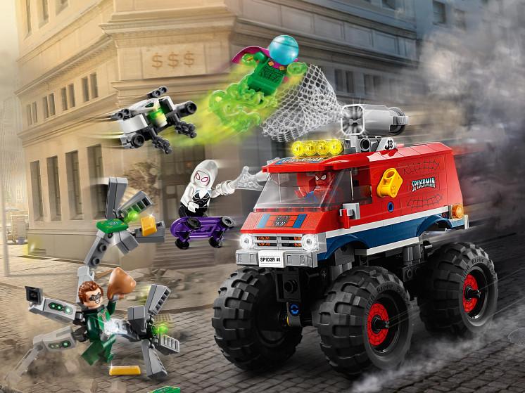 LEGO Super Heroes 76174 Монстр-трак Человека-Паука против Мистерио , конструктор ЛЕГО - фото 1