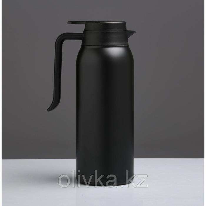 """Термос-кофейник """"Теним"""" 1.6 л, сохраняет тепло 8 ч, чёрный"""