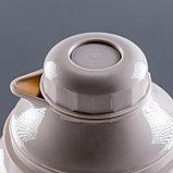 "Термос ""Coffee"" 3.2 л, кнопка, 1 кружка, микс, 21х44.5 см, фото 4"