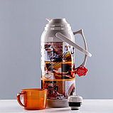 "Термос ""Coffee"" 3.2 л, кнопка, 1 кружка, микс, 21х44.5 см, фото 5"