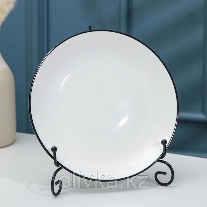 Подставка под тарелки Доляна, 13,5×20 см, цвет чёрный