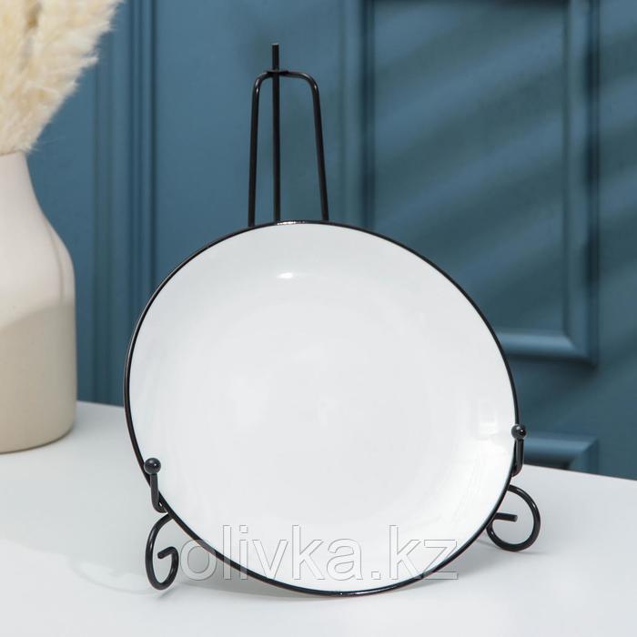 Подставка под тарелки Доляна, 15,5×25 см, цвет чёрный