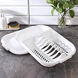 Сушилка для посуды с поддоном Милих, 38×27×7 см, цвет МИКС, фото 3