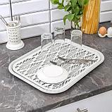 Поднос с вкладышем для сушки посуды Альт-Пласт «Колос», 45,5×36 см, цвет МИКС, фото 2