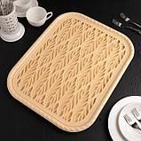 Поднос с вкладышем для сушки посуды Альт-Пласт «Колос», 45,5×36 см, цвет МИКС, фото 6