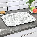 Поднос с вкладышем для сушки посуды Альт-Пласт «Колос», 45,5×36 см, цвет МИКС, фото 7