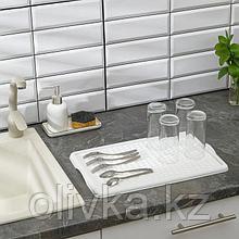 Поднос с вкладышем для сушки посуды IDEA, 42,5×27 см, цвет белый