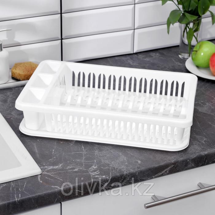 Сушилка для посуды IDEA, 42,5×27,5×9,5 см, цвет белый