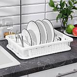 Сушилка для посуды IDEA, 42,5×27,5×9,5 см, цвет белый, фото 2