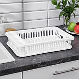 Сушилка для посуды IDEA, 42,5×27,5×9,5 см, цвет белый, фото 3