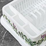 Сушилка для посуды IDEA «Деко. Каменная роза», 40×26×9 см, цвет белый, фото 4