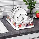Сушилка для посуды IDEA «Деко. Инжир», 40×26×9 см, цвет МИКС, фото 2