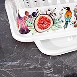 Сушилка для посуды IDEA «Деко. Инжир», 40×26×9 см, цвет МИКС, фото 3