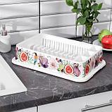 Сушилка для посуды IDEA «Деко. Инжир», 40×26×9 см, цвет МИКС, фото 4