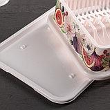 Сушилка для посуды IDEA «Деко. Инжир», 40×26×9 см, цвет МИКС, фото 6