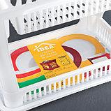 Сушилка для посуды 2-х ярусная IDEA, 42×27×32 см, цвет белый, фото 5