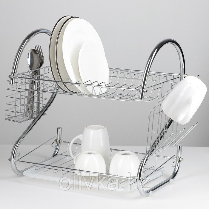 Сушилка для посуды Доляна «Стойка», S-образная, 40×23,5×34 см